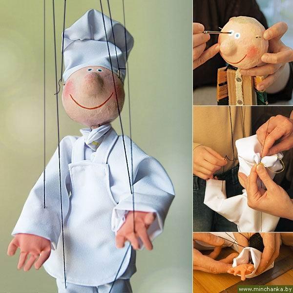 Делаем куклу марионетку своими руками